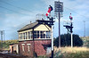 1973:  Hawkeridge Signal Box was opened in 1942 when the East Chord  from Heywood Road was built.