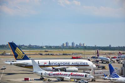 Singapore & Caribbean Airlines at JFK