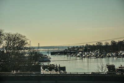 Boats Wrapped up on Stamford Harbor