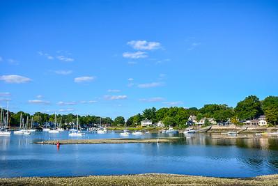 Boats on Mamaroneck Harbor