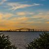 Newark Bay Bridge at Sunset