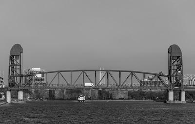 Inbound under the Bridge