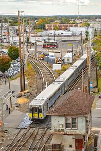 Main Line Bi-Level arriving at Mineola