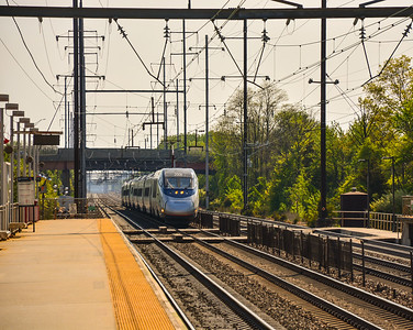Eastbound Acela Express at Hamilton