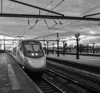 Eastbound Acela Express Roaring past Secaucus