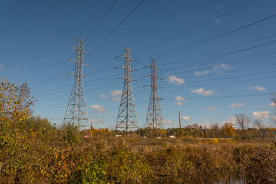 High Voltage Towers on Duck Island