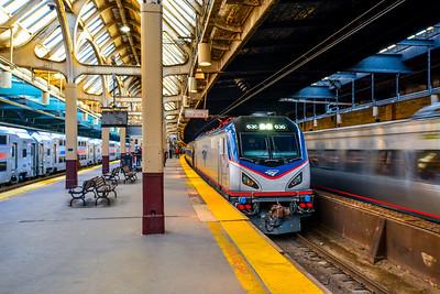 Westbound Regional vs Eastbound Acela Express