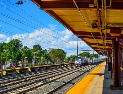Rocketing through New Brunswick Station