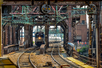 Westbound #946 Regional arriving at Newark Penn