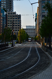 Southbound Light Rail in Exchange Place