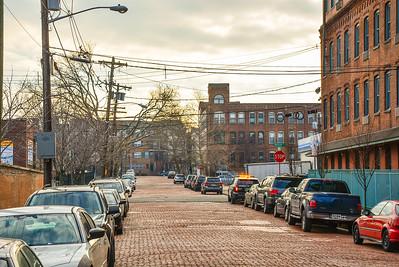 Brick lined Hamilton Street