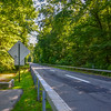 Empty Northbound Bronx River Parkway in Scarsdale