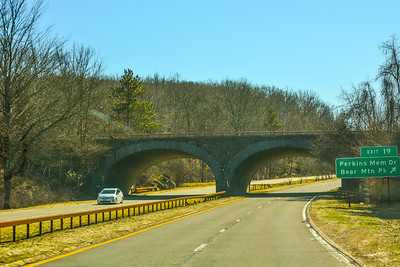 Southbound Palisades Parkway at Exit 19