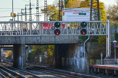 Eastbound Signals at Woodside