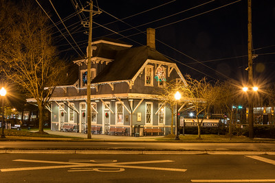 Hillsdale Station at Midnight