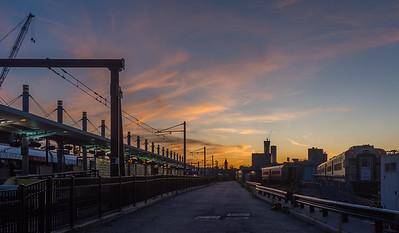 Sunset at the LRT Terminal