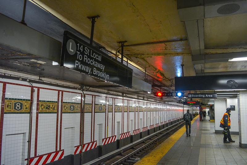 L train Platforms at 8th Avenue