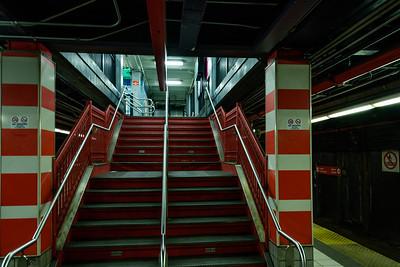 Orange and White Steps