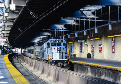 Bay Head Express arriving at Newark Penn