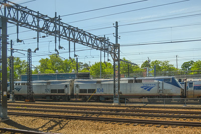 2 Amtrak Diesels at New Haven Union