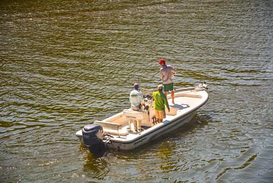 Fishermen on the Saugatuck River