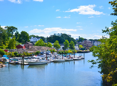 Boats on the Norwalk River