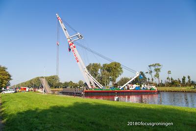 nederland 2018, groningen, paddepoel, paddepoelsterbrug, aanvaring