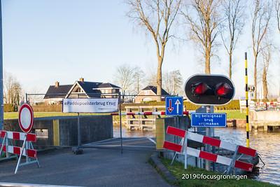 nederland 2019, groningen, paddepoel, paddepoelsterbrug, aanvaring
