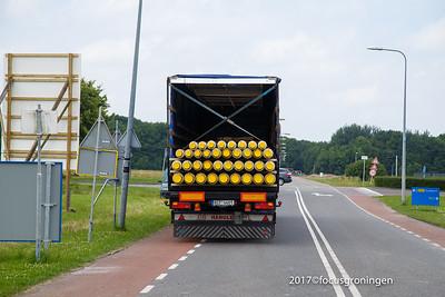 nederland 2017, groningen, blauwborgje, aanleg stadsverwarming