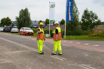 nederland 2017, groningen, blauwborgje, aanleg warmtenet
