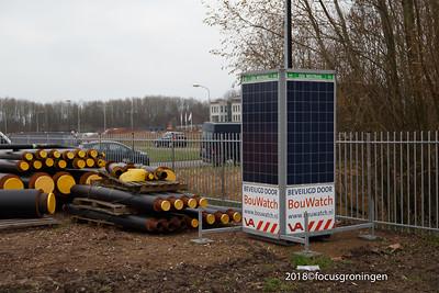 nederland 2018, groningen, zernikelaan, start warmtenet
