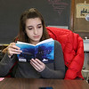 The Ingenuity Hub, an alternative after school program, has been up and running in Leominster for a about a year. Student Veronica Gazzano, 16, took some time to read the book Vertigo during class on Thursday. SENTINEL & ENTERPRISE/JOHN LOVE