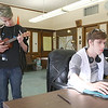 The Ingenuity Hub, an alternative after school program, has been up and running in Leominster for a about a year. Practicing on the ukulele in class on Thursday is Kiernan Frazier while his brother, also a student, Devlin Frazier looks some things up on the computer. SENTINEL & ENTERPRISE/JOHN LOVE