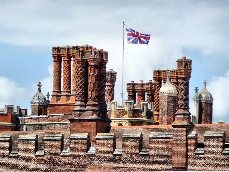 Chaminés no Palácio Hampton Court