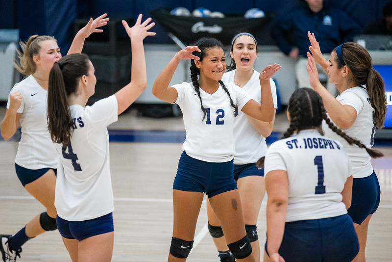 Women's Volleyball / St. Joseph's College – Brooklyn were defeated by John Jay College 3-0 (25-13, 25-22, 25-14), game held at The Hill Center – SJC, Brooklyn – NY on September 11, 2018.  (Photo Credit: Joseph Gomez/Josport)