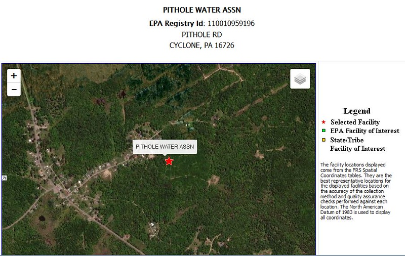 Public Water Supply Location