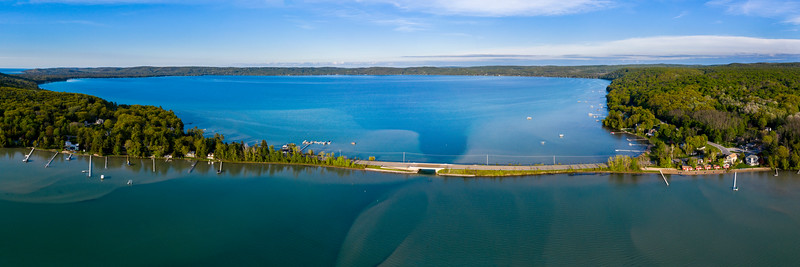 Glen Lake Aerial Panorama