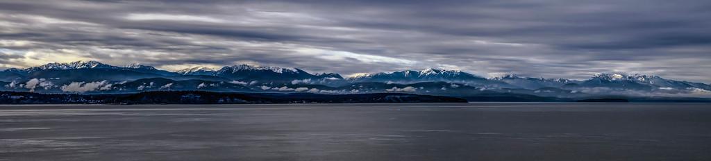 Olympic Panorama from Whidbey Island, Washington