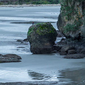 """The Illusion"", Salt Creek Beach at Tongue Point near Joyce, WA"
