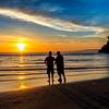 Sunset, Salt Creek Beach near Joyce, WA