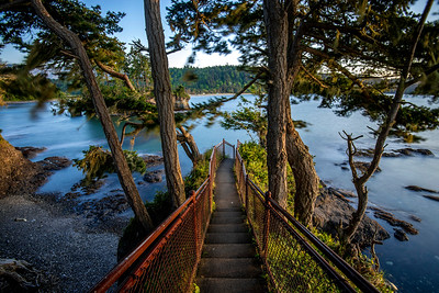 Stairway to Tongue Point, Salt Creek Park near Joyce, WA