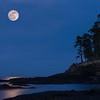 Moonrise over Tongue Point, Salt Creek Park near Joyce, WA