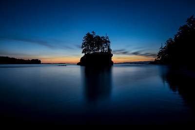 Twilight at Salt Creek Beach, Crescent Bay near Joyce, WA