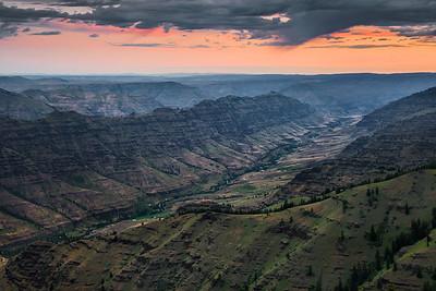 Dawn over Imnaha Canyon, Oregon