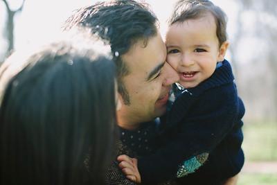 Inma, Jorge y familia