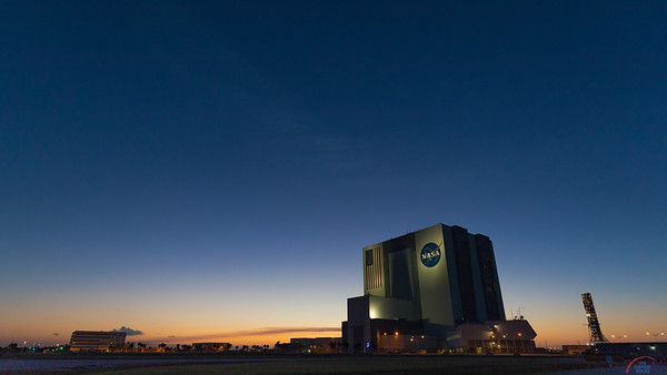 Vehicle Assembly Building at Sunset