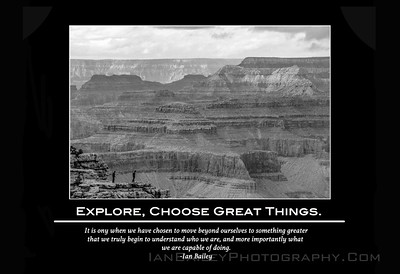 1 Poster Explore, Choose Great Things