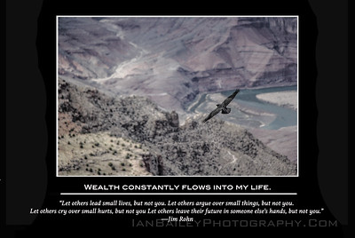 """ Wealth Constantly Flows Into My Life"" Ian Bailey Photography Affirmation Series"