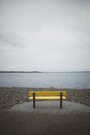 Santalahti Coastline VI (Yellow Bench)