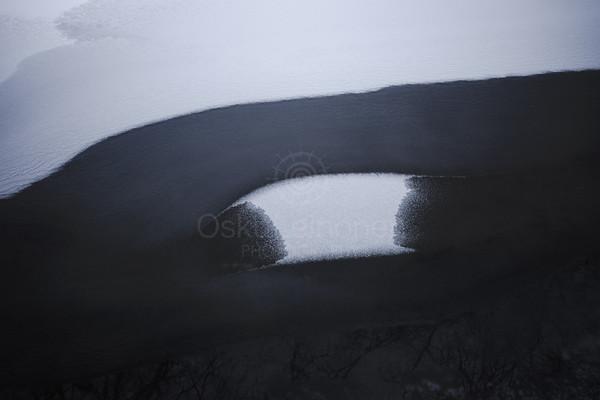 Melted Ice IX (Lake Patterns)